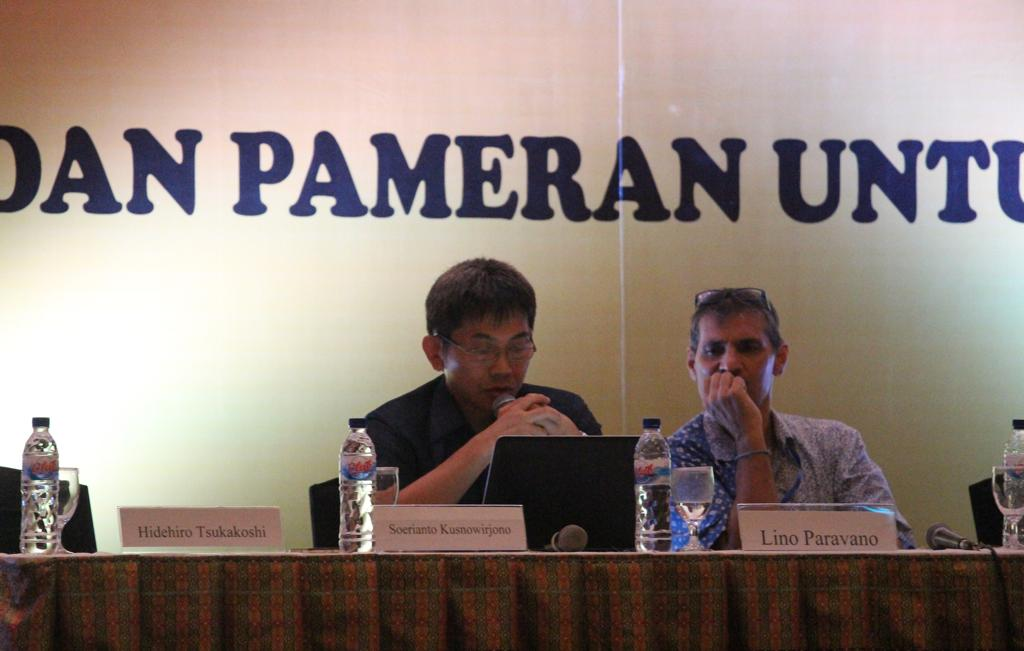 One of speakers in the 3rd indonesia seaweed forum 2015